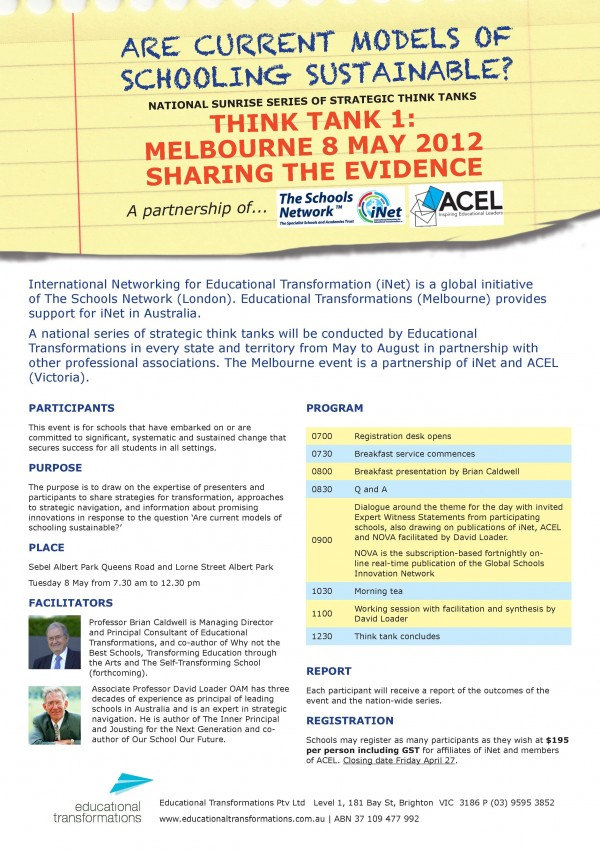 Melbourne Flyer and Registration form think tank_Page_1