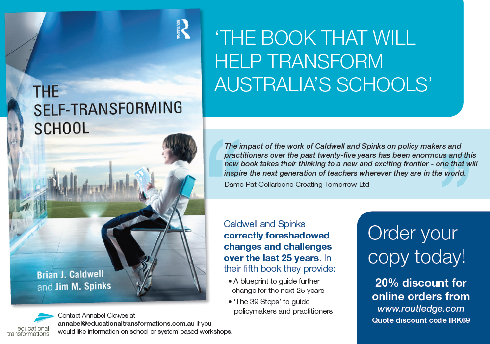 The self transforming school educational transformations the self transforming school by brian j caldwell jim spinks malvernweather Image collections